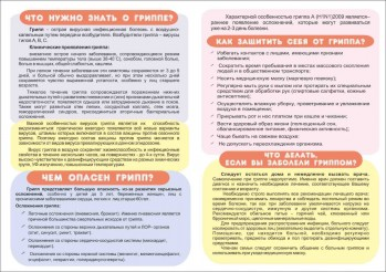 Инфографика по профилактике гриппа
